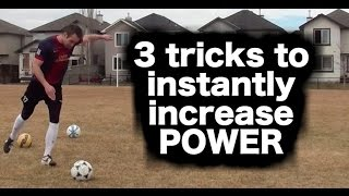 how to kick a soccer ball with power how to shoot a football with power