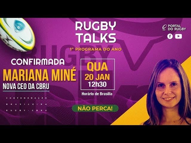 Rugby Talks entrevista Mariana Miné, nova CEO da CBRu