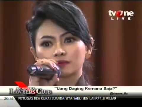 Vitalia Shesya di Indonesia Lawyer Club ILC ) Uang Daging Kemana saja