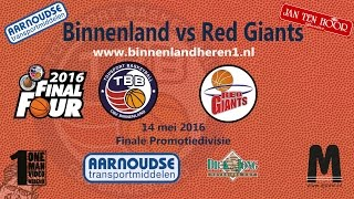 Finale 2016 Binnenland vs Red Giants