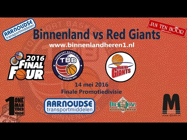 Finale 2016 Binnenland vs Red Giants