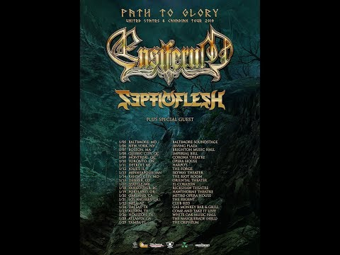 "Ensiferum 2019 North American ""Two Paths Of Glory Tour"" w/ SEPTICFLESH ..!"