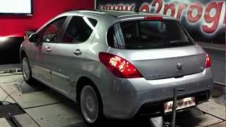 Test dyno Reprogrammation moteur Peugeot 308 1.6 hdi  112@141ch o2