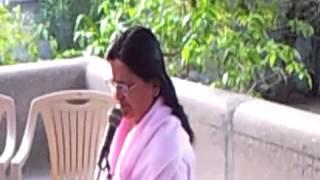 Anandeshwar Mandir me Sachcha Baba ki Katha Karti hui Guru Maa 1