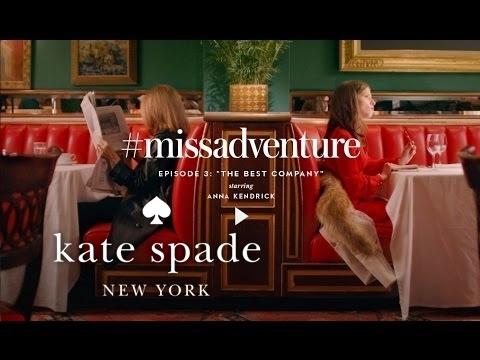 anna kendrick & gloria steinem in #missadventure: the best company (s1)   kate spade new york