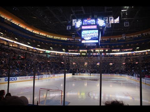 Canadian and United States National Anthems. St. Louis Blues vs Edmonton Oilers