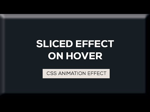 Sliced Text Animation on Hover | CSS Animation Tutorial