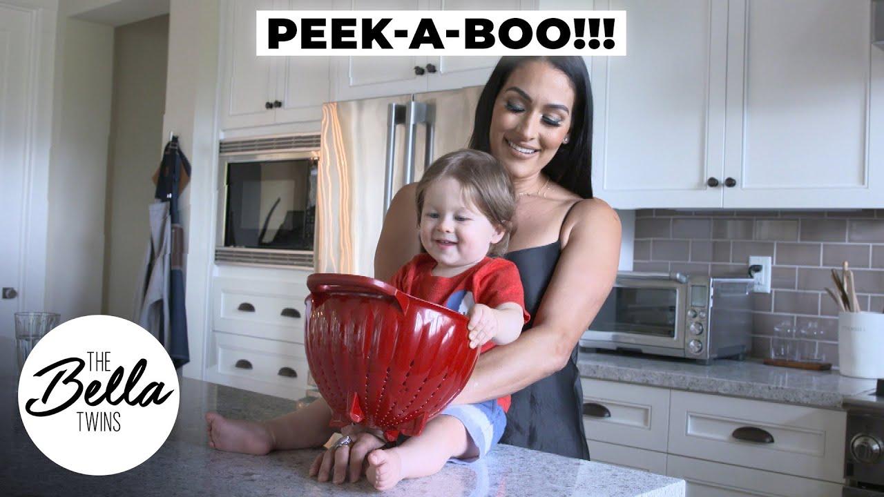 Matteo plays PEEK-A-BOO with Nikki!