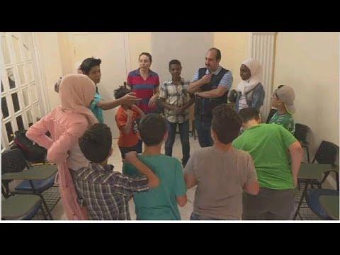 African refugees seeking safety in war-torn Syria