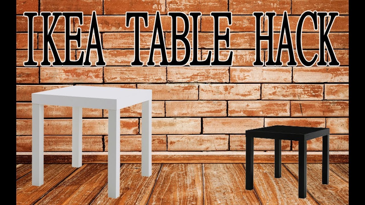 Ikea lack table hack youtube - Table basse ikea lack ...