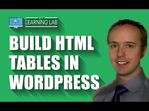 Build HTML Tables In WordPress | WP Learning Lab thumbnail