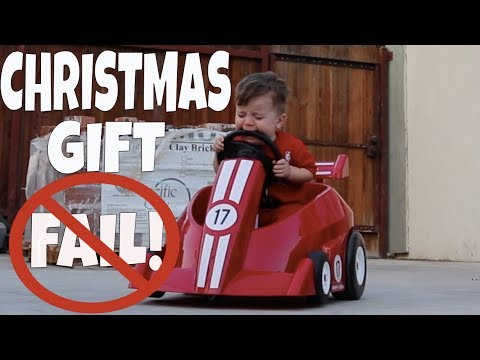 CHRISTMAS GIFT FAIL! VLOG 105: JUMP IN