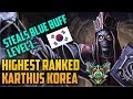 LEVEL 1 CHEESE TACTIC HIGHEST RANKED TOP LANE KOREA KARTHUS BUILD GUIDE 이석희 kr Masters Rank 300