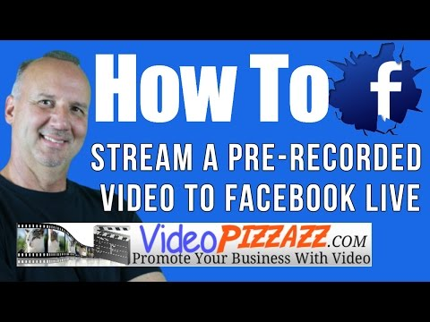 How To Use OBS To Stream A Prerecorded Video To Facebook Live