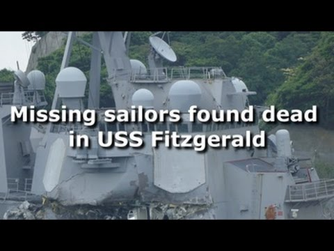 Missing sailors found dead in USS Fitzgerald