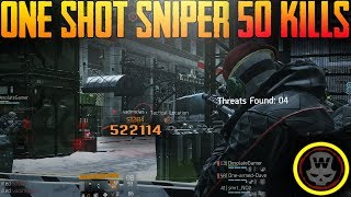 50 Kills 1 Shot Sniper Classified Hunters Faith (The Division 1.8)