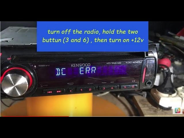 How To Fix A Kenwood Radio In Protect Mode The Easy Way Youtube