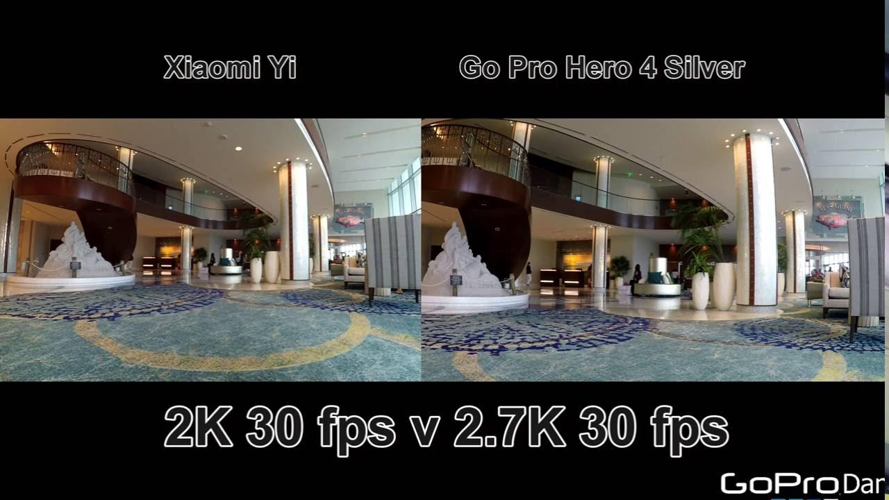 Xiaomi yi vs gopro hero action camera comparison cameralah com gopro - Xiaomi Yi 2k International Vs Gopro Hero 4 Silver Indoor Outdoor Testing