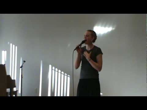 Abby Busch sings