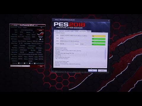 Pro Evolution Soccer 2018 not working with VGA VRAM 1GB? check this video  and you can smile