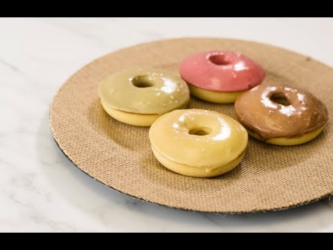 Yellow Cake Donuts with 4 Superfood Glazes