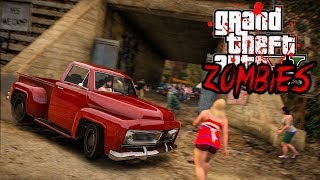 GTA V ZOMBIES - ENTREI NO ACAMPAMENTO INFESTADO DE ZOMBIES! #36