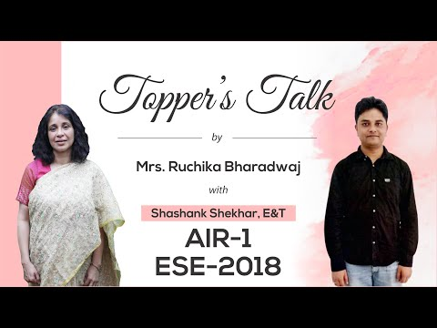 ESE 2018 Topper   Shashank Shekhar (EC, AIR 1)   Toppers Talk   MADE EASY
