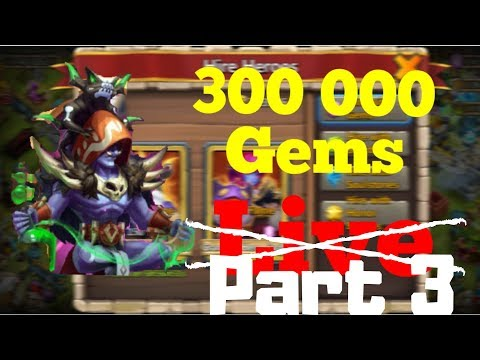 Rolling 300K Gems | Occultist | Castle Clash | Part 3