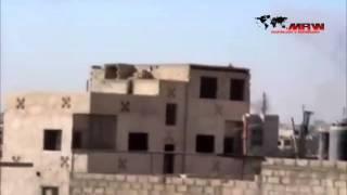 Глазами ИГИЛ  Кадры нанесения ударов по позициям ИГ Российскими ВКС