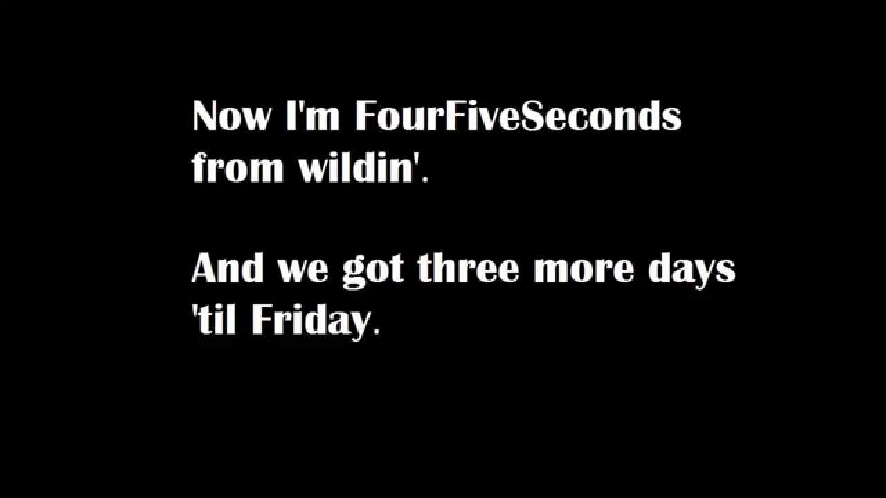 Rihanna - Four Five Seconds - Directlyrics