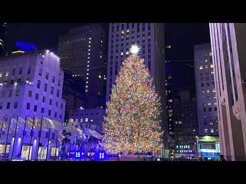 NYC Christmas Walk ✨Rockefeller Center Tree to 59th Street via 5th Avenue (December 3, 2020)