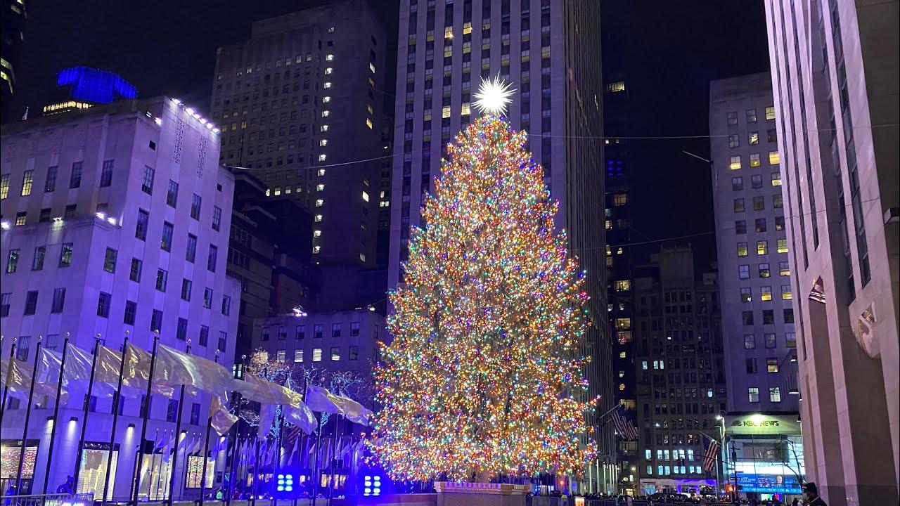 Christmas Trees 2021 Upper Manhattan Nyc Christmas Walk Rockefeller Center Tree To 59th Street Via 5th Avenue December 3 2020 Youtube