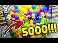 COLOQUEI 5000 BEXIGAS NA MINHA CAMA ELASTICA !!!