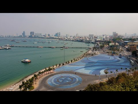 Pattaya City sign view point, Pattaya, Thailand (2021) (4K) - Pattaya view point