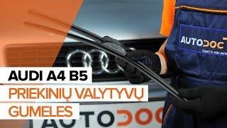 AUDI A4 Ašies montavimas keitimas: instrukcija