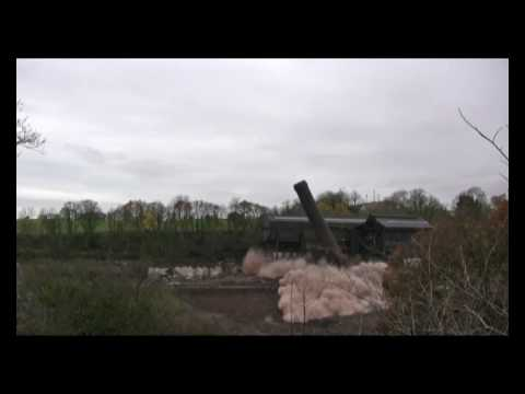 Controlled Demolition Of Carrongrove Paper Mill Chimney November 2009