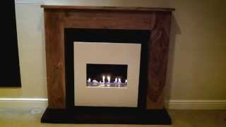 Traditional Flueless Gas Fire - Open Flame - Wooden Surround - Cvo Fire