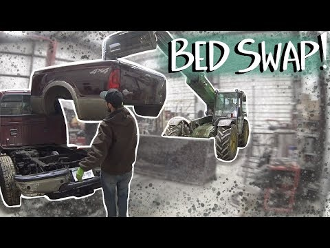 Cheap 6.0 Powerstroke Ford F250 gets a NEW BED!