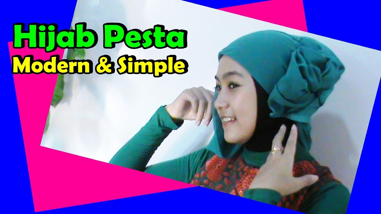 Tutorial Jilbab Pesta Paris Segi Empat Modern Simple By Anna