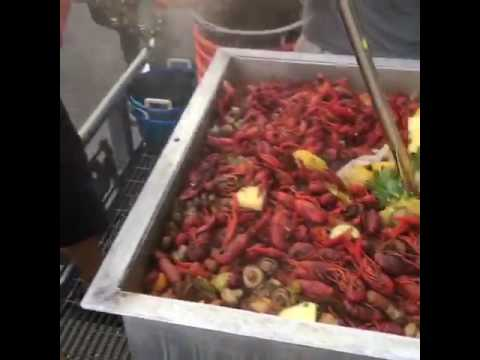 Boiling Crawfish On Oak Street In New Orleans