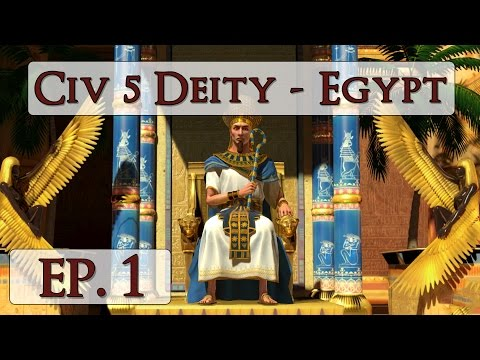 Civ 5 Brave New World Deity - Ep. 1 - Let's Play Egypt