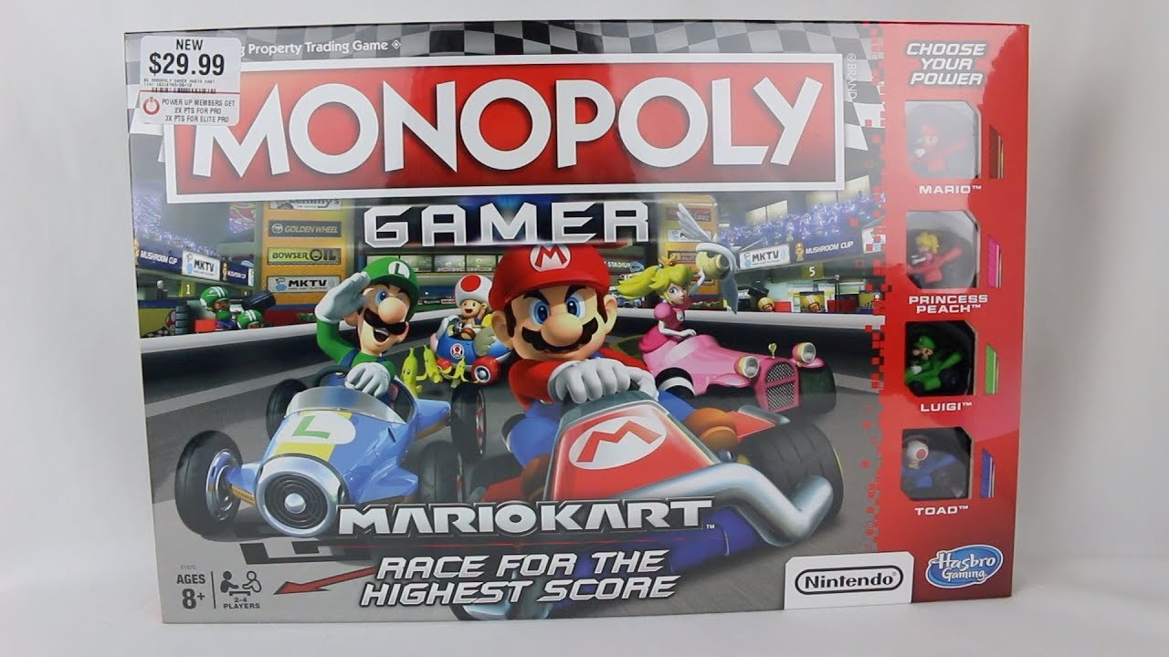 Monopoly Gamer Mario Kart Unboxing Youtube
