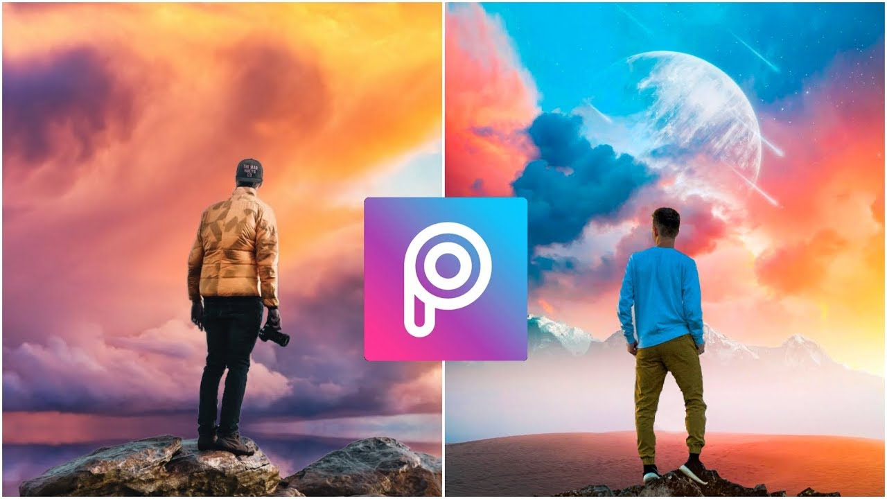 Picsart: How to make Awesome sky Background - Picsart Beautiful sky  Background editing tutorial