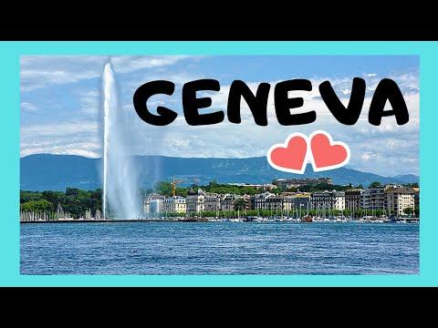WATCH! The spectacular water fountain (Jet d'eau), Geneva (Switzerland)