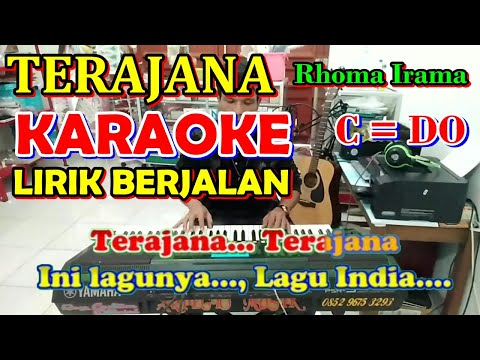 KARAOKE TERAJANA - Rhoma Irama [ Tempo Sedang  Audio Jernih ] Karaoke Organ Tunggal - HD