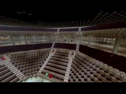 Epic United Center Build In MInecraft