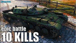 КАК ИГРАТЬ В КОМАНДЕ ДОЛБАНОВ 🌟 World of Tanks Т-100 ЛТ лучший бой