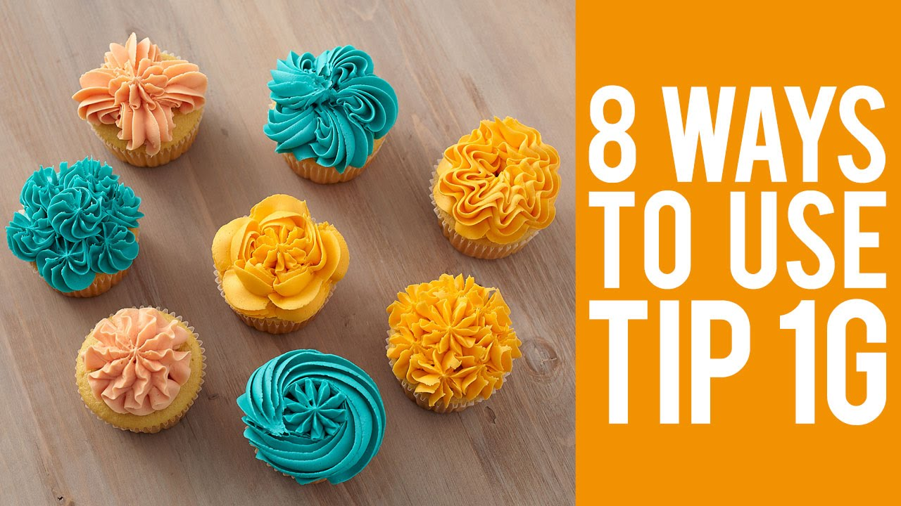Decorate Cupcakes with Tip 1G – 8 Ways! - YouTube