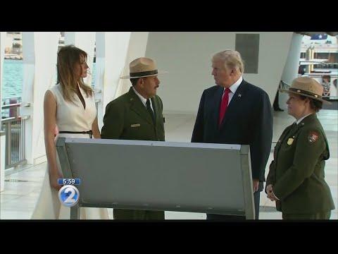 President Trump, first lady arrive in Honolulu