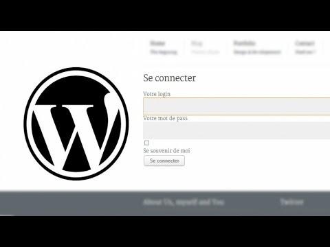 Tutoriel WordPress - Inscription et Connexion personnalisée